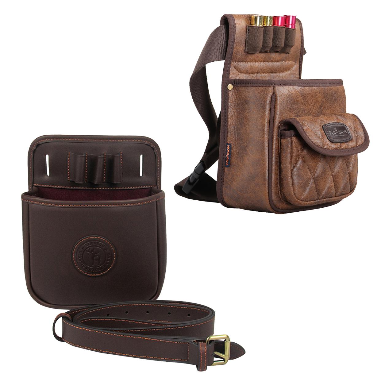 Canvas /& Leather Shotgun 75 Cartridges Holder Speed Loader Bag Ammo Carrier