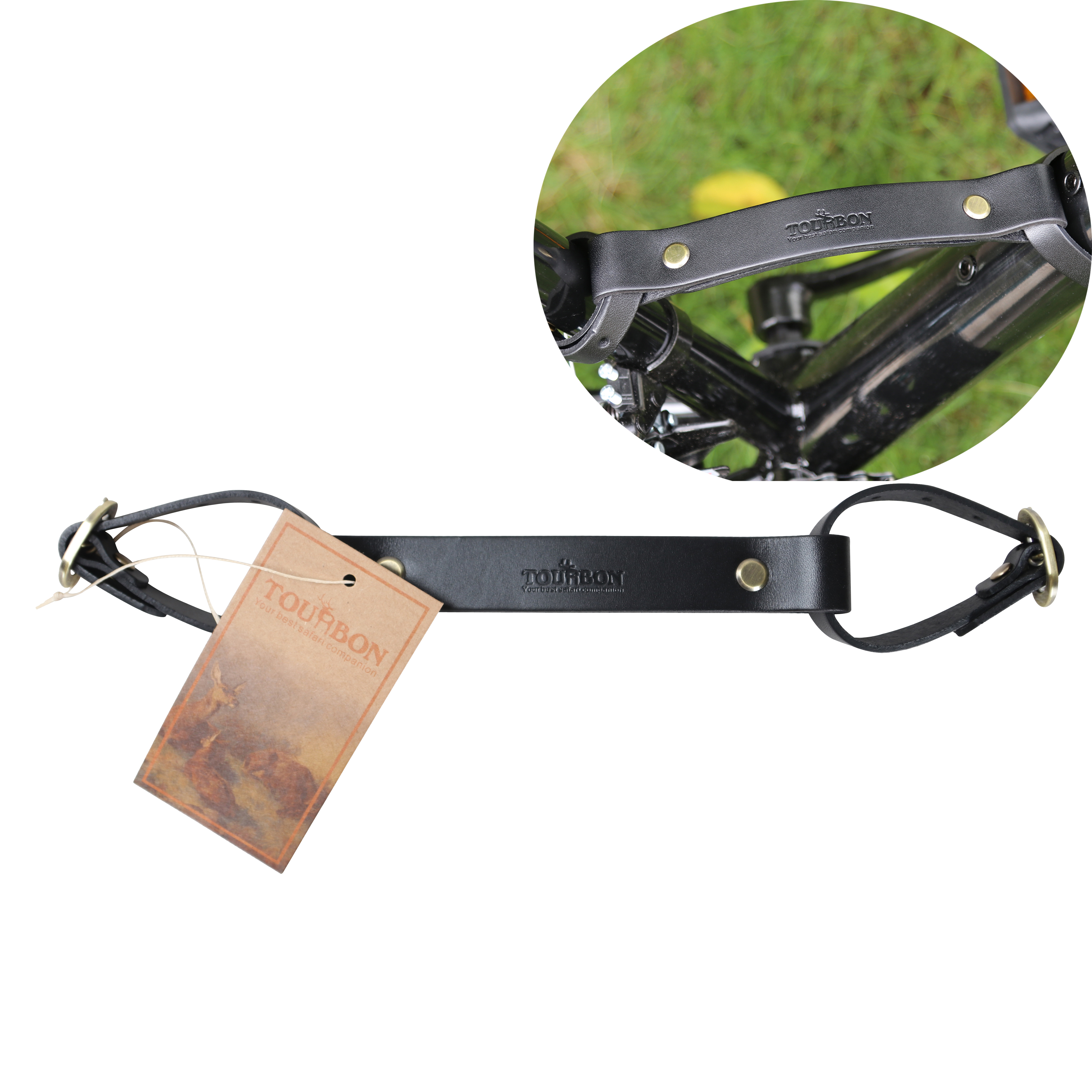 Tourbon Frame Carrying Strap Handle Bike Move Tube Hold Lifter Portaging Cycling