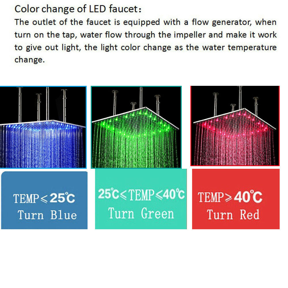 ELLO/&ALLO LED Rain/&Waterfall Shower Panel Tower System Massage Body Jets Mixer1