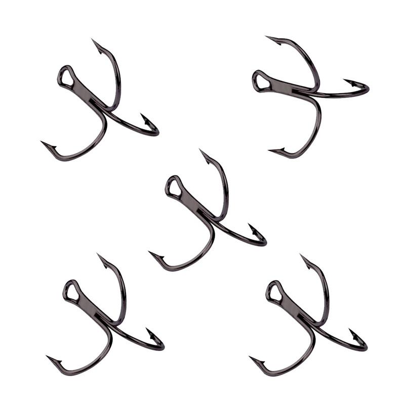 Lot 50x Fishing Hook Sharpened Treble Hooks 1//0-3//0# 2//4//6//8//10//12# Fish hook