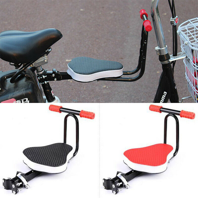 Bicycle Front Seat W// Thickened Padded Child Bike Kid Chair Safety Seat Foldable