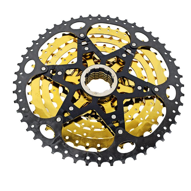 VG Sports MTB Bike 10Speed Cassette 10-50T Gold Freewheel Sprocket for Shimano