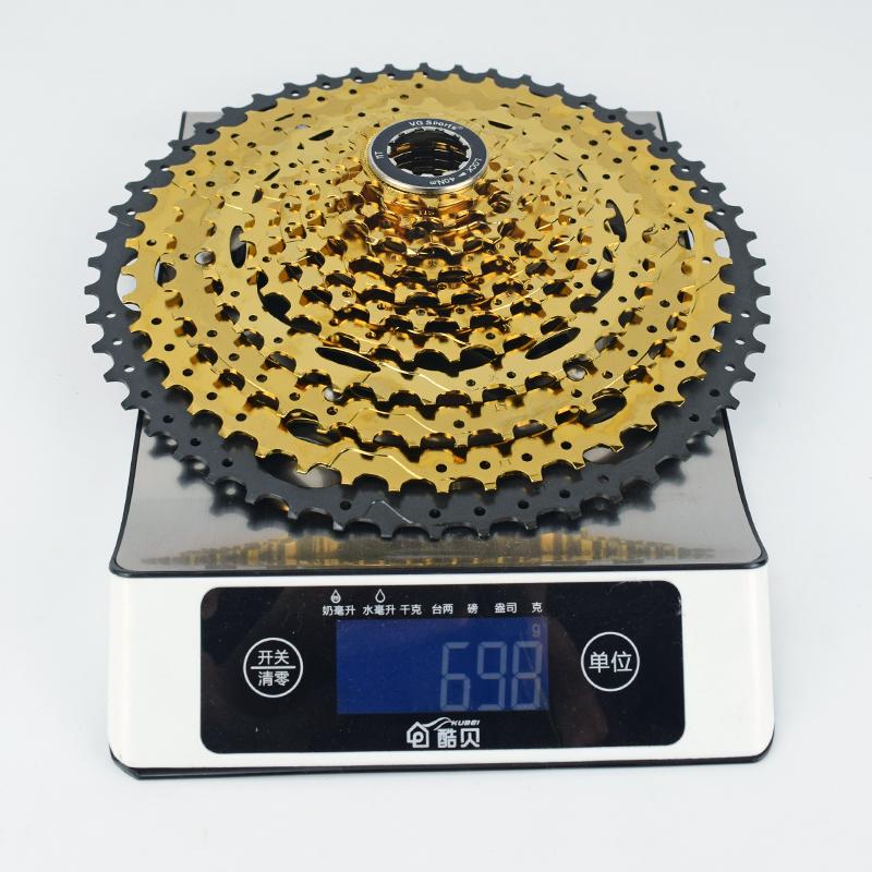 VG 11 speed 11-52T mtb gold bicycle cassette freewheel sprockets ultralight