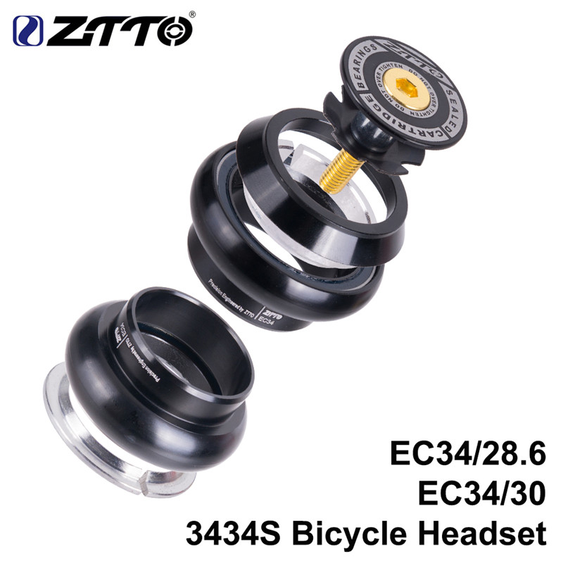 ZTTO 3434S Bike Threadless Headset 34mm EC34 CNC 1-1//8 28.6 Straight Tube Fork