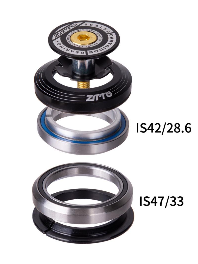 AL6061 T6 ZTTO 4247T Mountain Bike Bicycle Bearing Headset 33mm Built-in Bearing