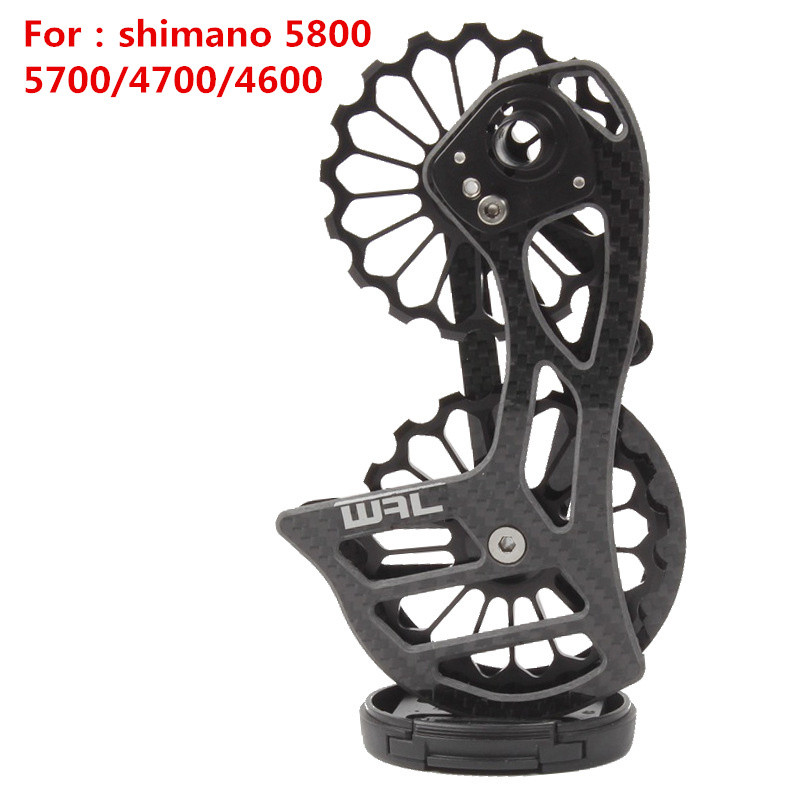 RockBros Carbon Fiber Bike Rear Derailleur Pulleys Ultralight Jockey Wheel Set for Shimano 9100 9150 R8000 R8050