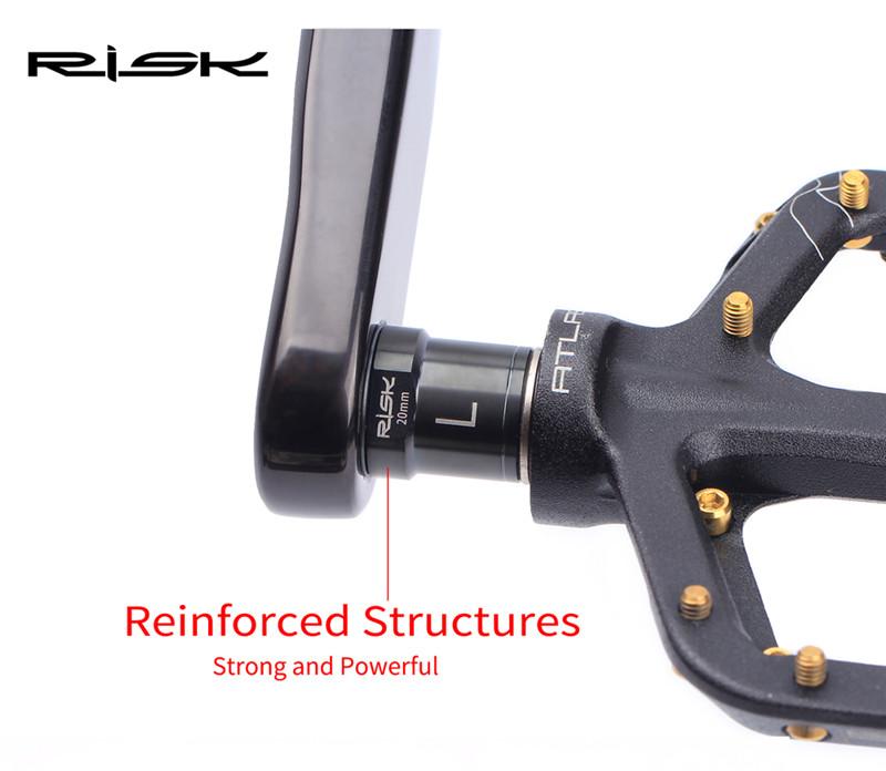 RISK Titanium Bike Pedal Extension Screws Bolt for MTB Bike Pedal Bolt Extender