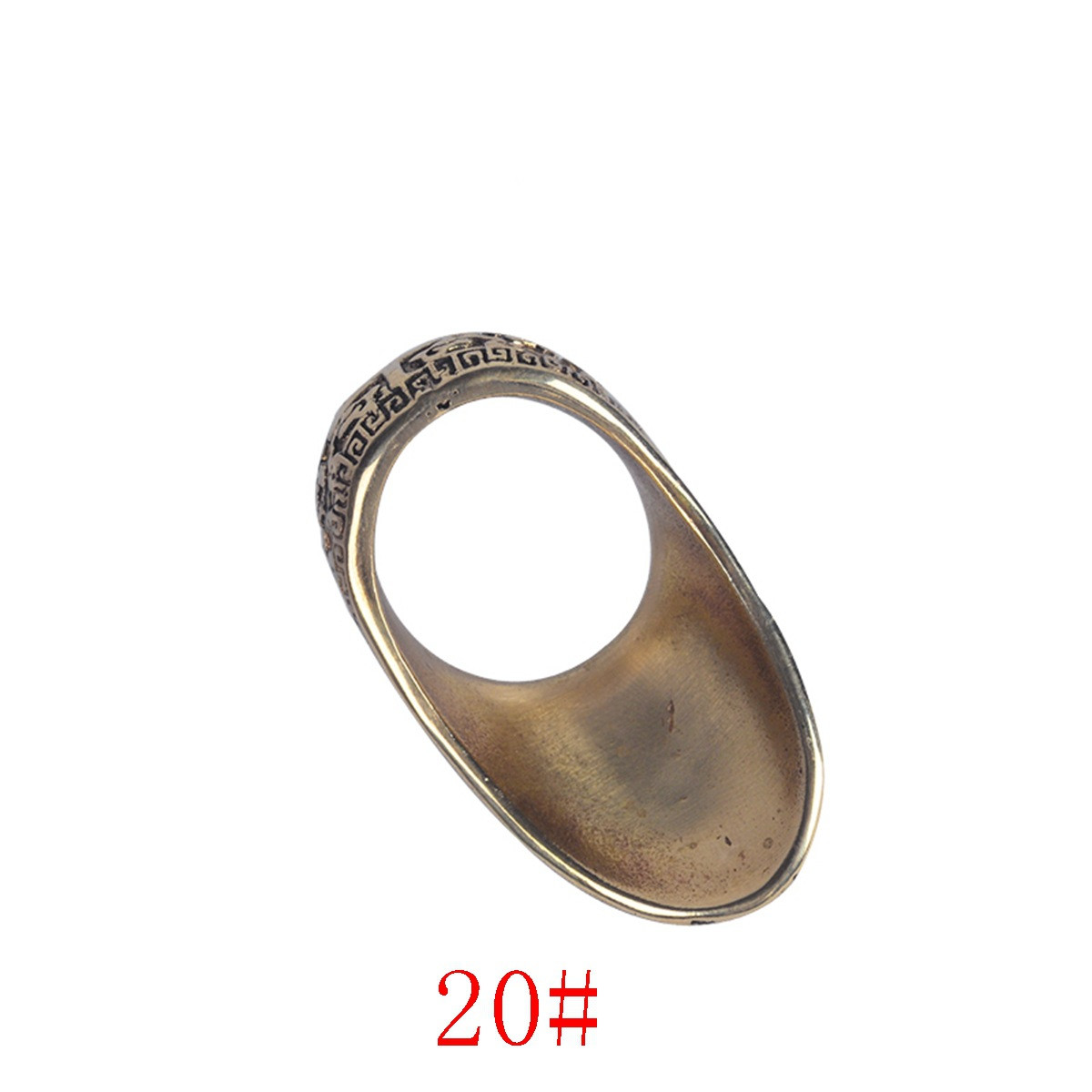 Fingerguards Protective Thumb Ring Gear Pure Copper For Archery Bow Hunting