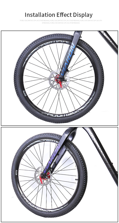 Bicycle Rigid Fork Aluminum Alloy 6069 MTB Mountain Road Hard Fork 26 27.5 29er