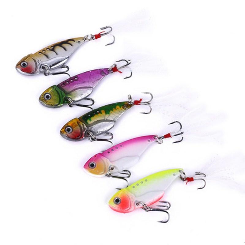 5Pcs Glow Metal Jig Fishing Lures Slow Sinking Jigging Lures/&Treble Hook 3D Eyes