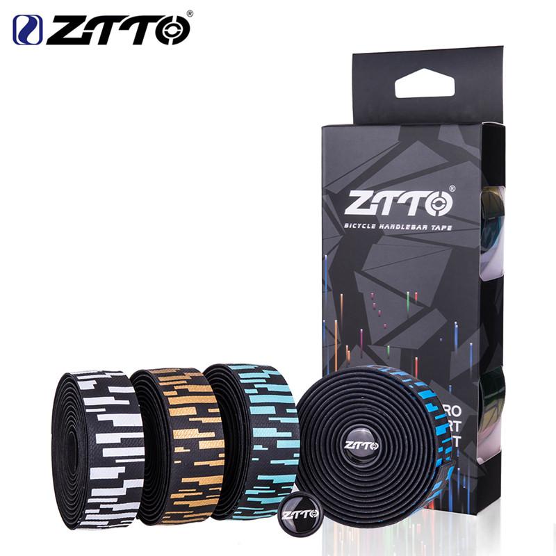 ZTTO Bike Handlebar Tape with Bar Plugs Reflective High Viscosity Non-Slip W7C0