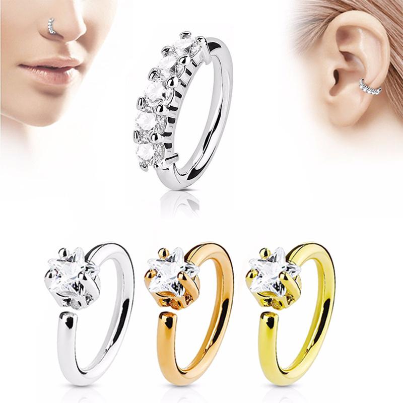 16g cuivre crystal strass nez anneau piercing cartilage. Black Bedroom Furniture Sets. Home Design Ideas