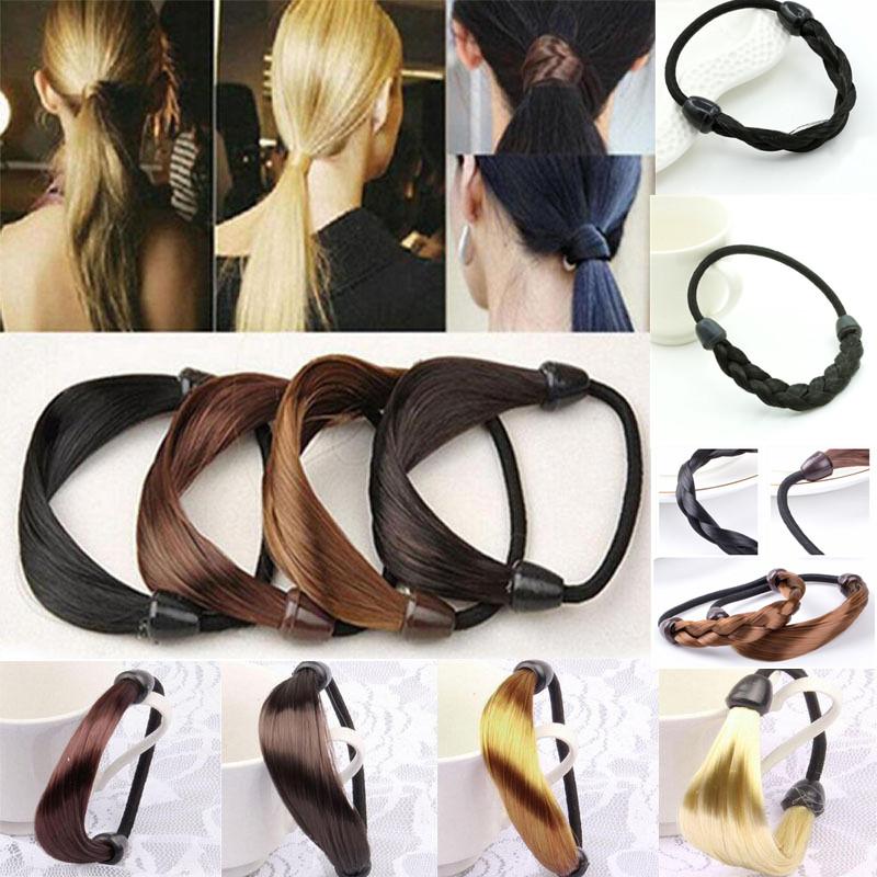 Elastisches Seil Haargummis Pferdeschwanz Halter Kopfband Haarbänder CR