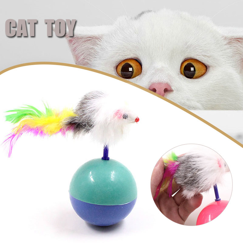 jouet amusant fausse souris sur boule plastique pour chat chaton animal jeu ebay. Black Bedroom Furniture Sets. Home Design Ideas
