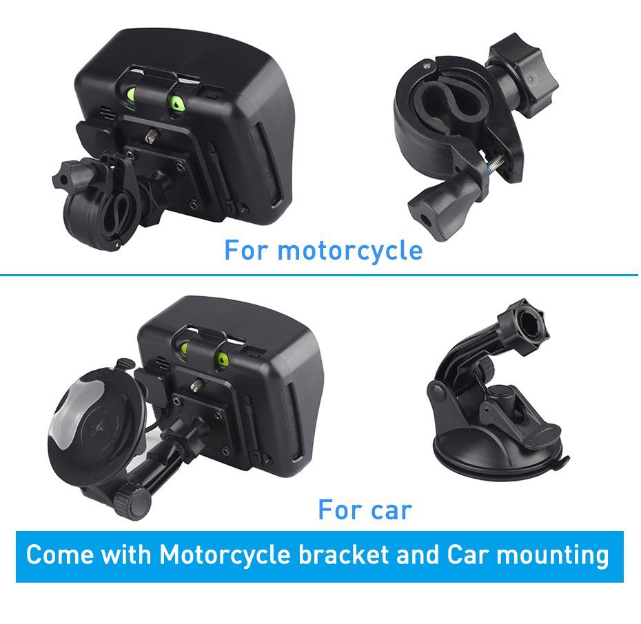 4.3″ GPS Motorcycle Navigator BT Touch Moto Car Navigation Sat NAV 8GB US Map FM