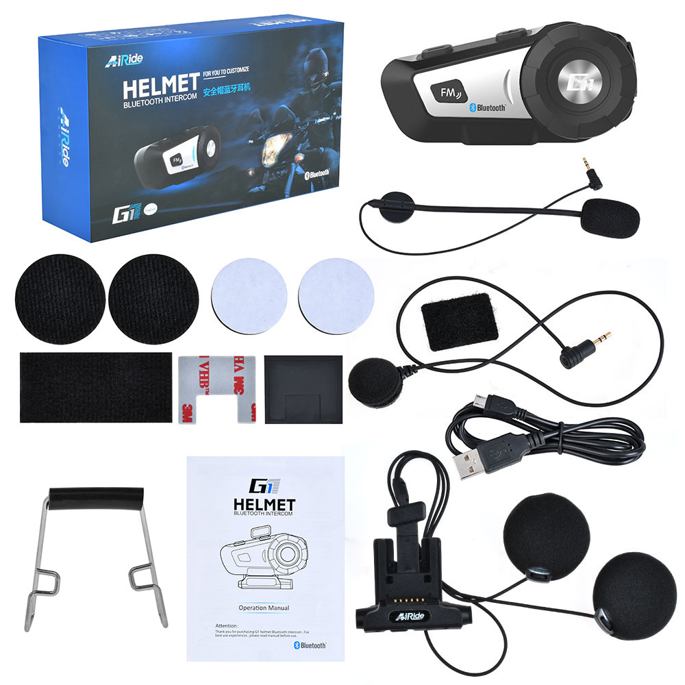 Details about Universal BT Motorcycle Bluetooth Helmet Headset Siri MP3 FM  Voice Command