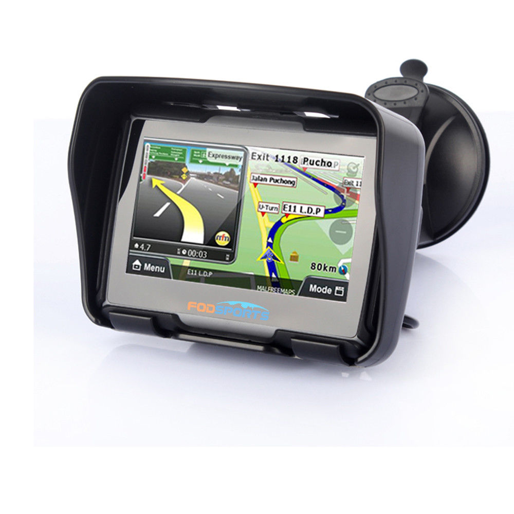 4.3″ Bluetooth Car Motorcycle GPS Navigation Waterproof Motorbike SAT NAV + Maps