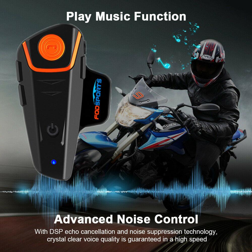 BT-S2 Motorcycle Intercom Bluetooth 1000M Helmet Headsete 3 Riders Communication