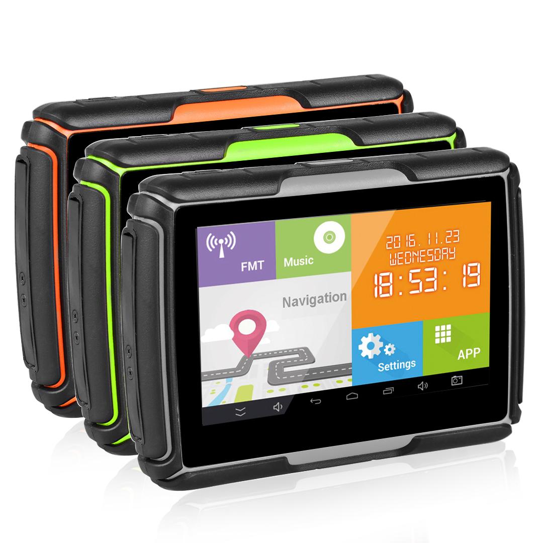 4.3″ Touch Screen Motorcycle GPS Navigation Navigator Andriod WiFi SAT NAV + Map