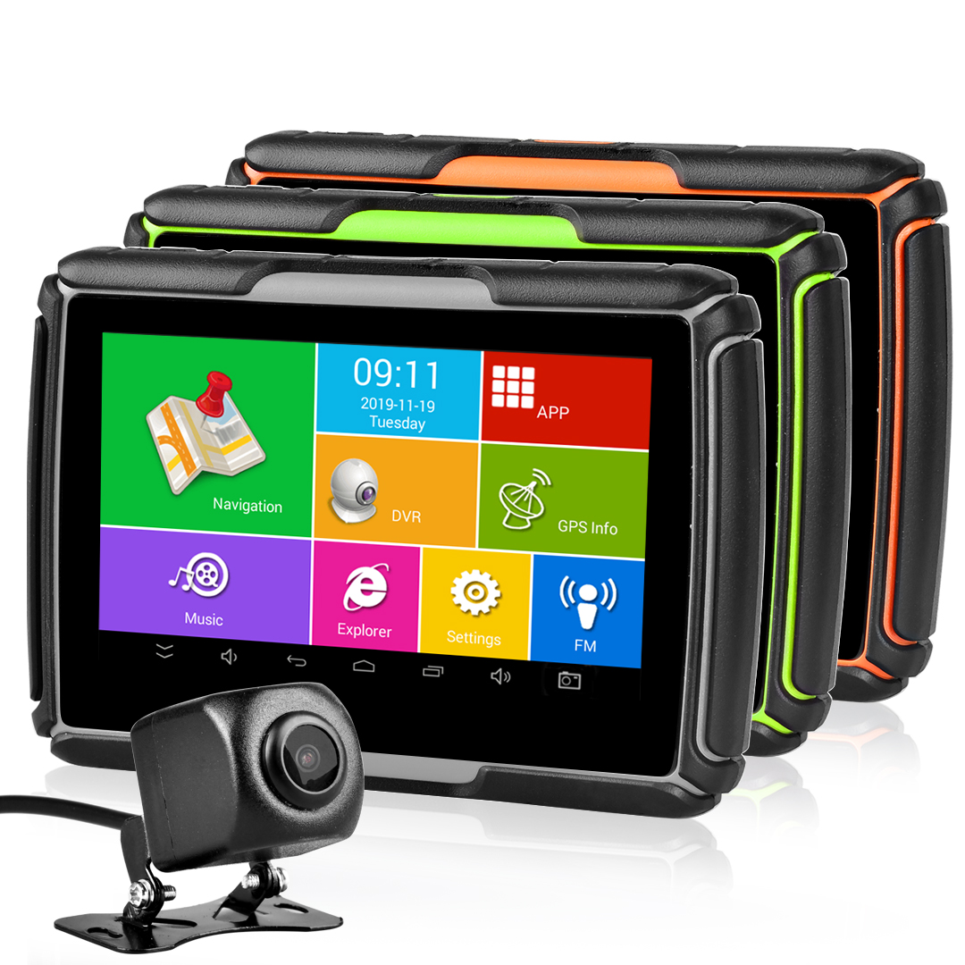 Waterproof GPS Navigation Touch Screen Motorcycle Car Navigator +Camera DVR +Map