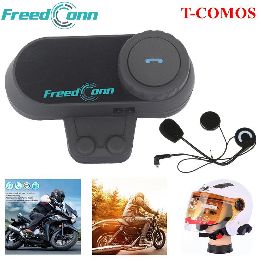 Freedconn Motorcycle Helmet Intercom Bluetooth Motorbike Helmet Headset Fm Radio Ebay