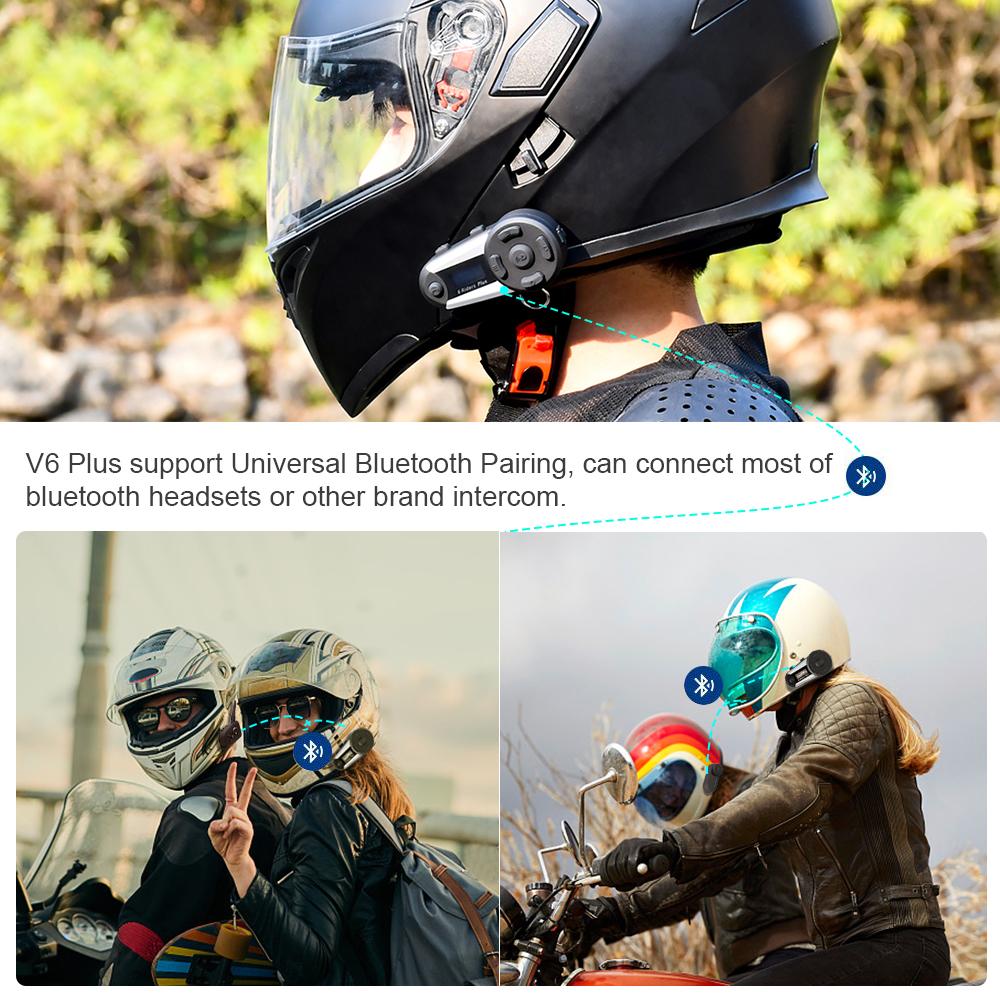 1200M Motorcycle Helmet Intercom Interphone 2 Way Bluetooth Communication FM GPS