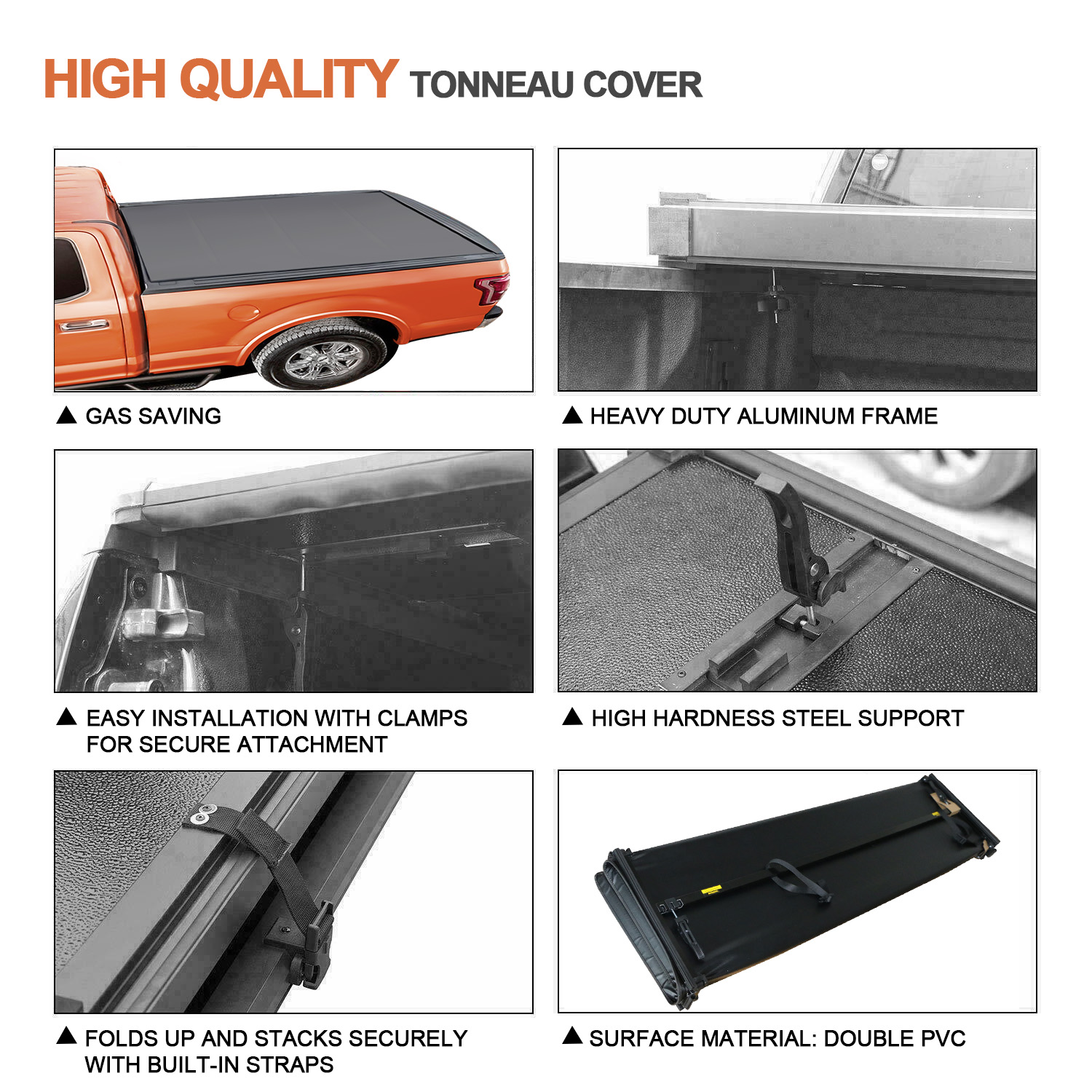 Automotive Truck Bed Accessories Lock Roll Up Black Soft Tonneau Cover Fits 05 15 Toyota Tacoma 6ft Bed