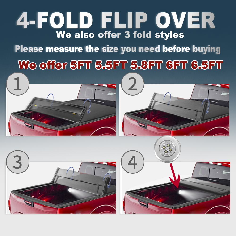 ::Tonneau Cover 5.5FT Truck Bed For 2015-2020 Ford F-150 SUPER CREW XLT XL Limited