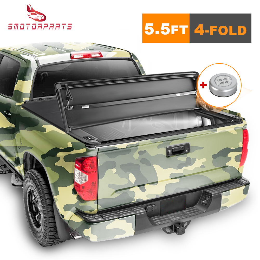 Tonneau Cover 5 5ft 4 Fold Truck Bed For Ford F 150 2015 2020 Xlt Xl Limited Ebay