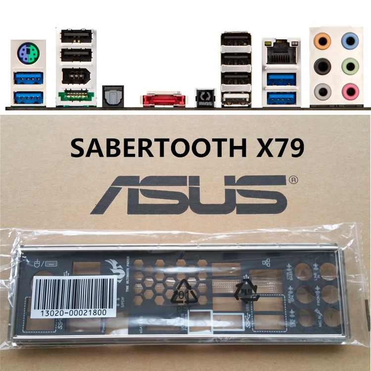 1PCS IO BACK PLATE FOR  SABERTOOTH 990FX