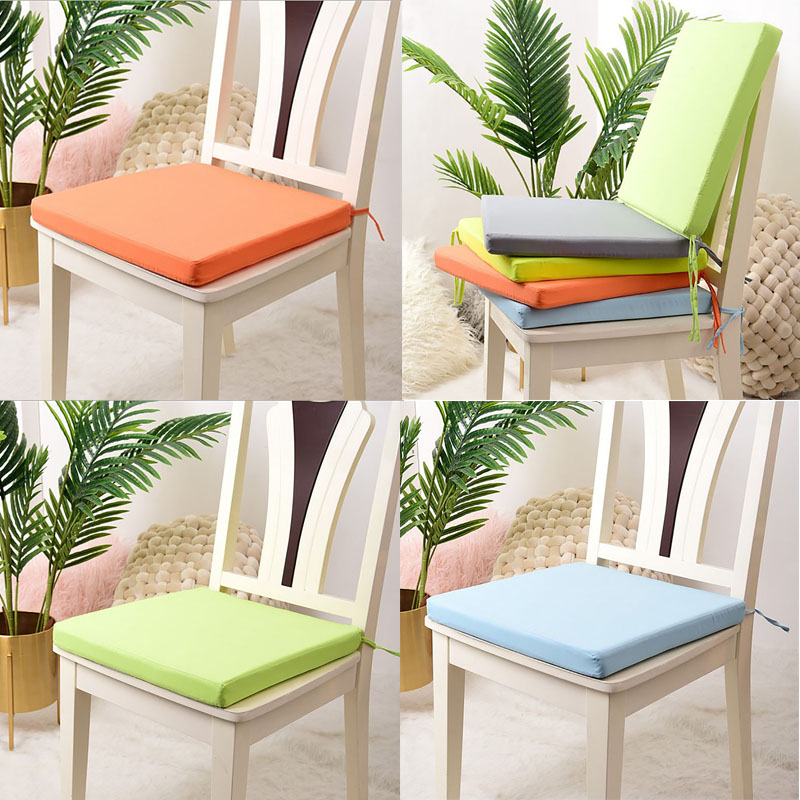 4x Tie On Seat Pads Dining Room Garden Kitchen Chair Cushions Foam Outdoor Patio