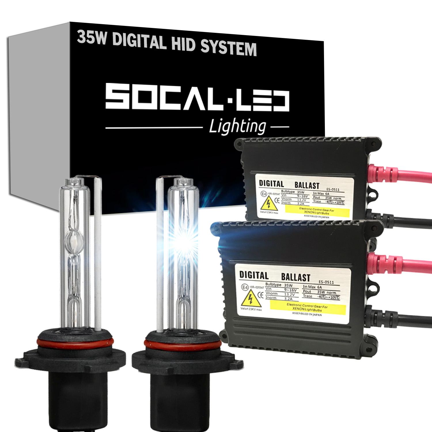Details About Socal Led 9007 Hid Light Kit Upgrade Dc 35w Ballast Bright Headlight Replacement
