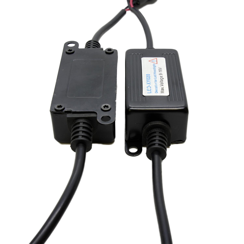 TOMALL H7 LED Load Resistive Connectors LED Bulbs Anti Glare HeadlampTOMALL H7 LED Headlight Decoder CAN-BUS EMC Warning Canceller Capacitor Anti-flicker Resistor harness