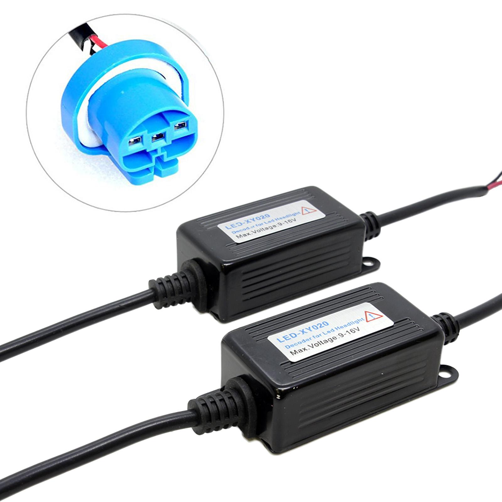 2x 9007 9004 LED Canbus Headlight Warning Error Canceller Kit Resistor Decoder