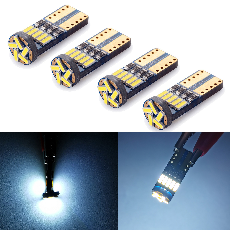 4x T10 W5W LED Bulb15SMD 4014 Lamp 6000K For Car Interior Light License Plate