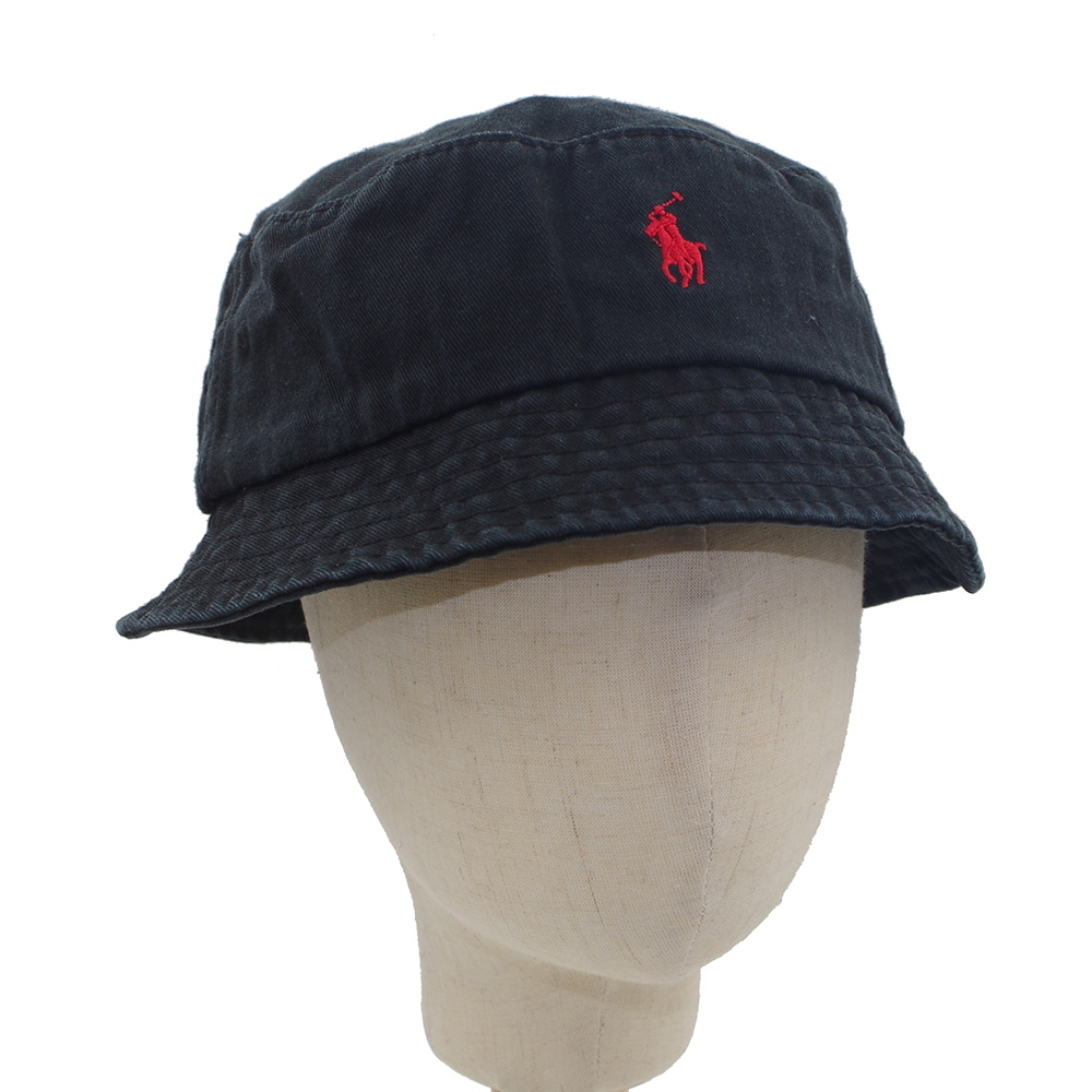 08629a0b Bucket Hat Polo Casual Flat Basin Cap Cotton Small Pony For Outdoor ...