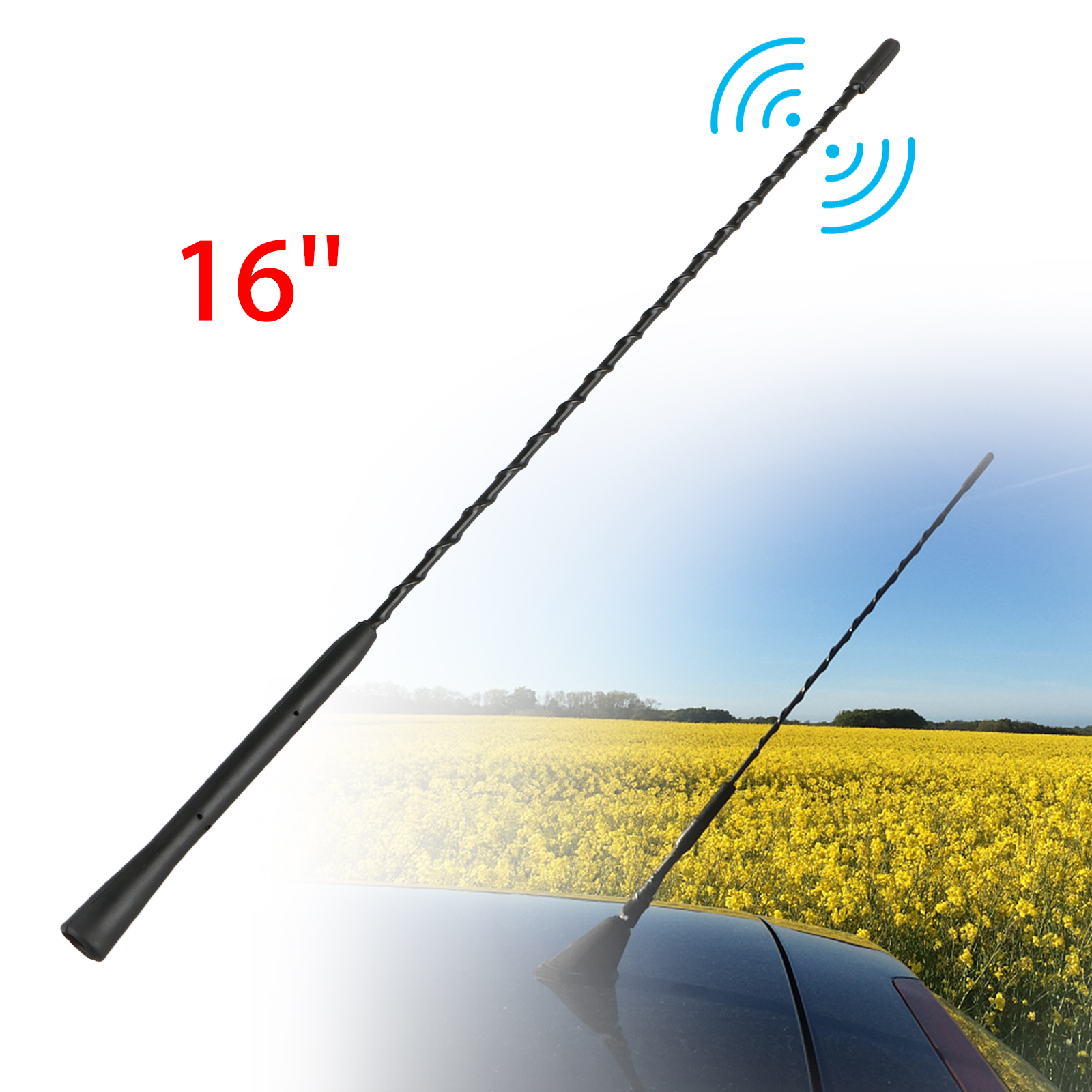 "Replace 8/"" Automatic Antenna Mast AM//FM Radio Aerial For 1990-2005 VW Passat"