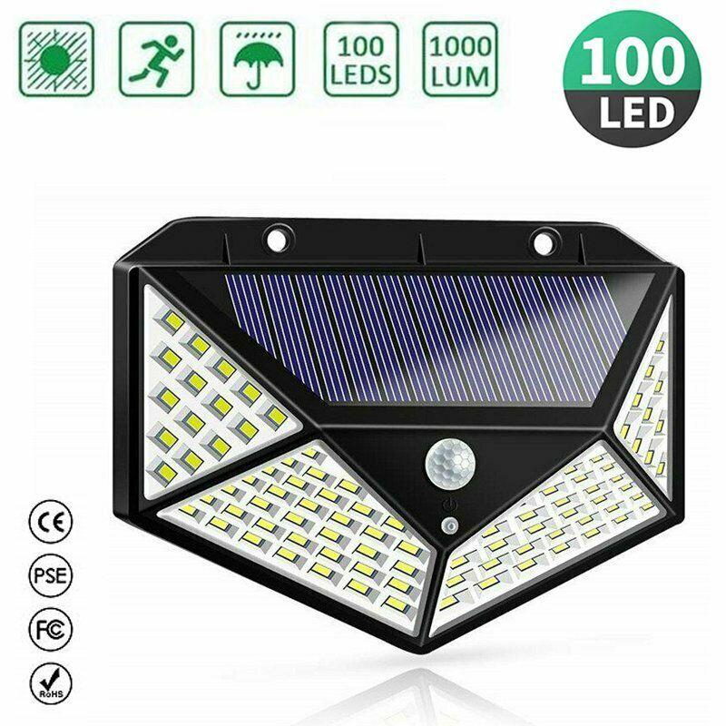 206 LED Solarleuchte mit Bewegungsmelder Solarstrahler Außenleuchte Gartenlampe