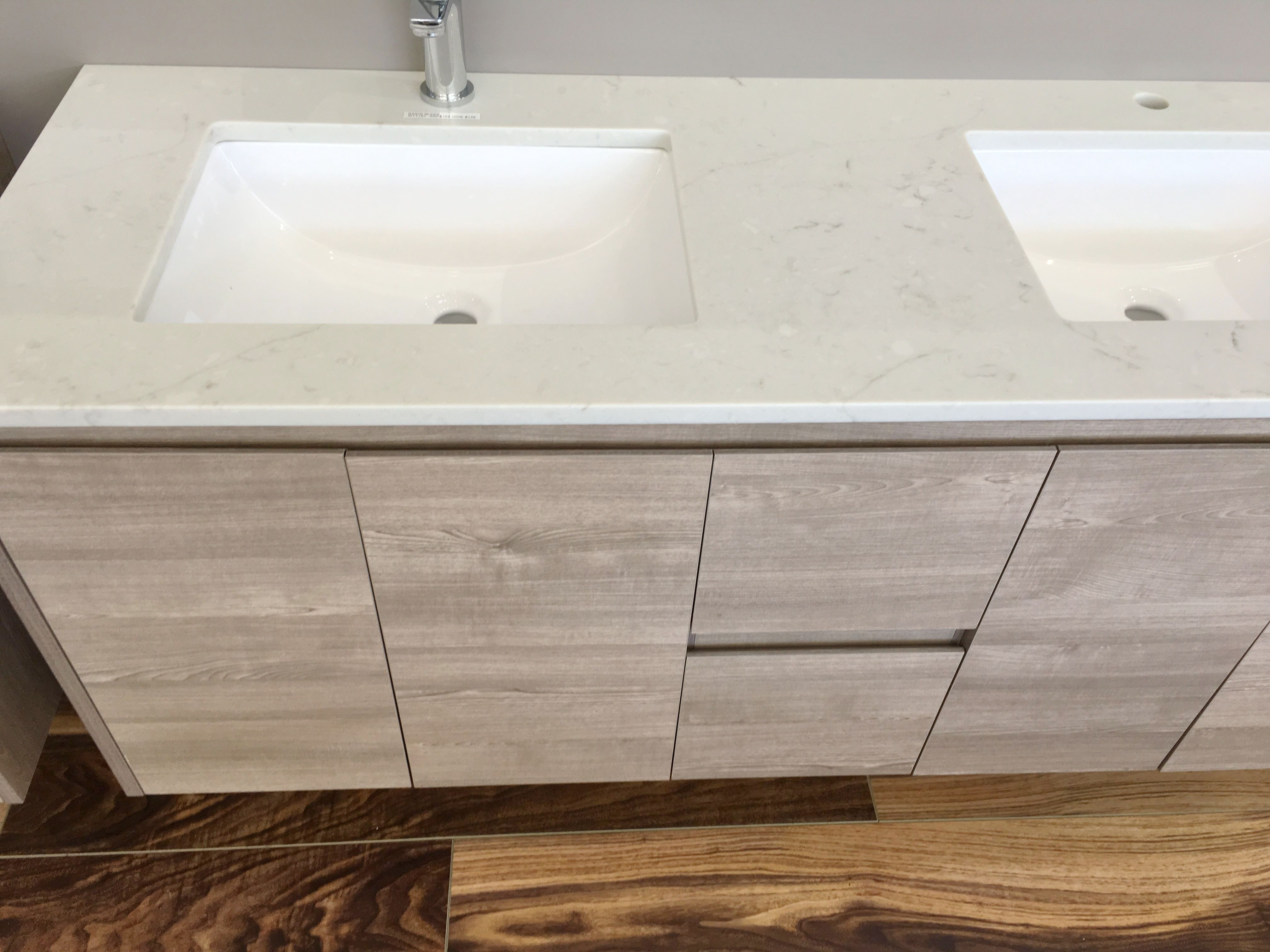 MELBOURNE 1500X520X580MM DOUBLE WOODEN BATHROOM WALL HUNG ...