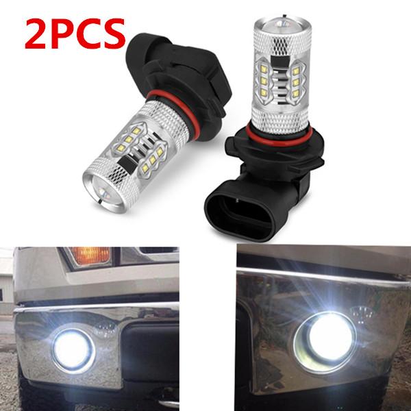 H10 100W Fog Lights Bulbs For Toyota Tacoma 2005-2011 6000K LED Lamps 9145