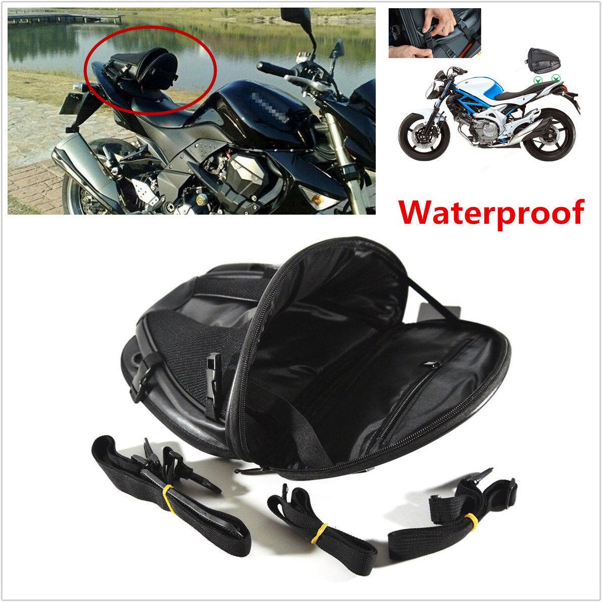 ff5cf7d0d285 Waterproof Motorcycle Tail Bag Saddlebag Sports Luggage Back Seat ...