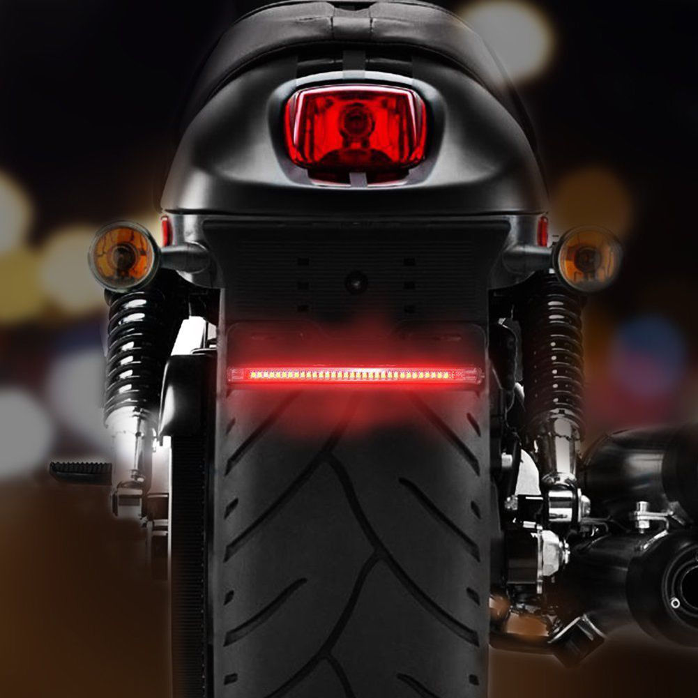 Details about Motorcycle LED Twin Tail Turn Signal Brake License Plate  Integrated Light