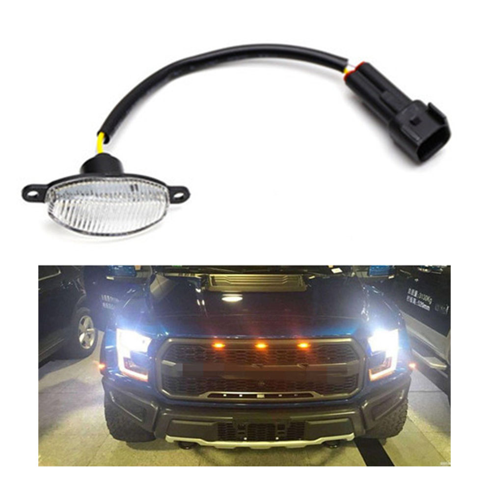 3x Ford SVT Raptor Style LED Amber Grille Lighting Kit Universal for Car SUV sy