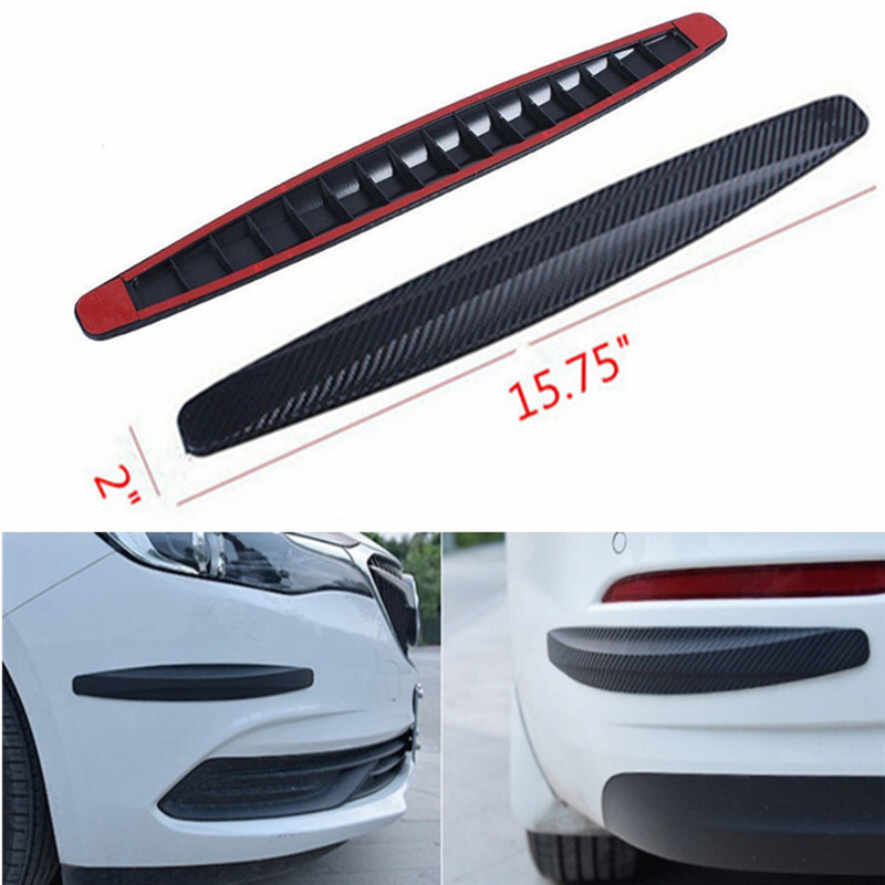 Car Door Sill Protector,Bumper Guard Strong Adhesive Sticker,Anti-collision Wrap Film for Universal Car 5 Sizes,Black