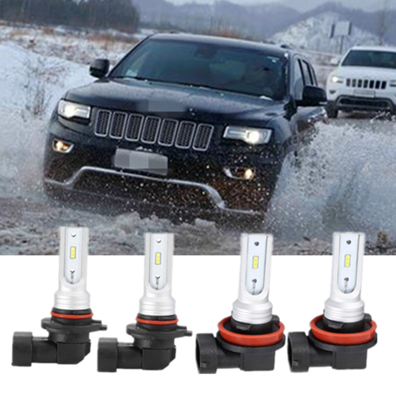 9006 LED Headlight Bulbs 36w 6000K Bright White Low Beam for JEEP Commander
