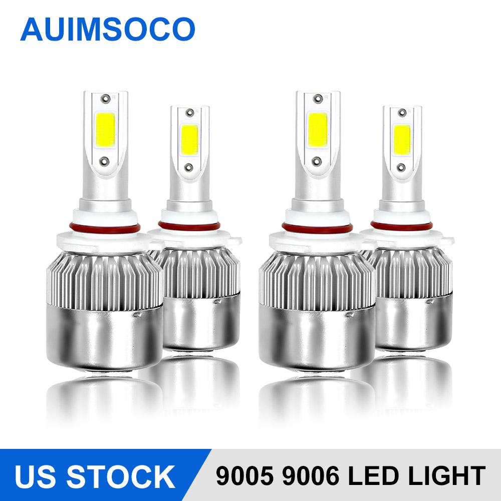 4X White 9005 9006 LED Headlight Kit for Honda Civic 2004-2013 Odyssey 2005-2010