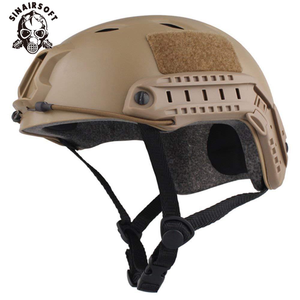 Tactical Fast BJ Type Jump Helmet Adjustable w// Side Rail Wargame Bicycle Hiking