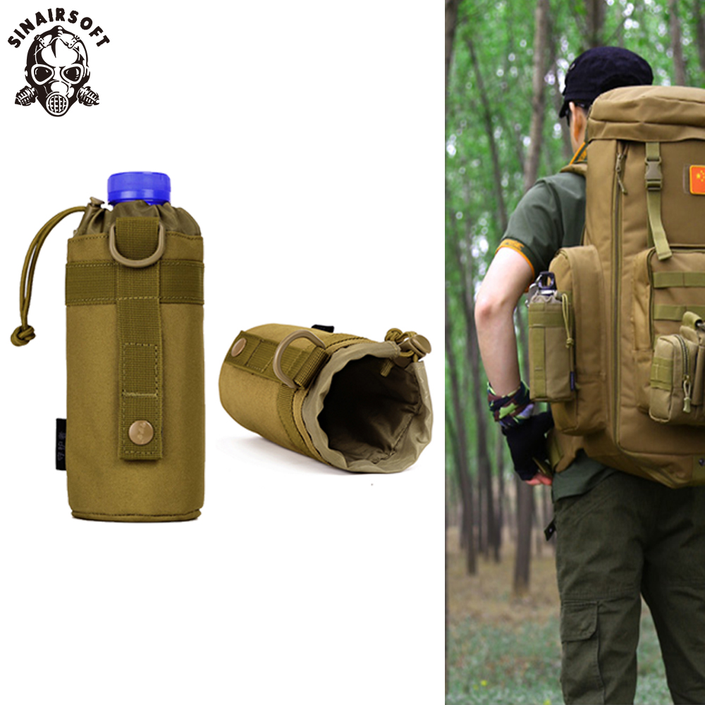 Outdoor Hiking Camping Molle Water Bottle Holder Belt Carrier Pouch Nylon Bag jd
