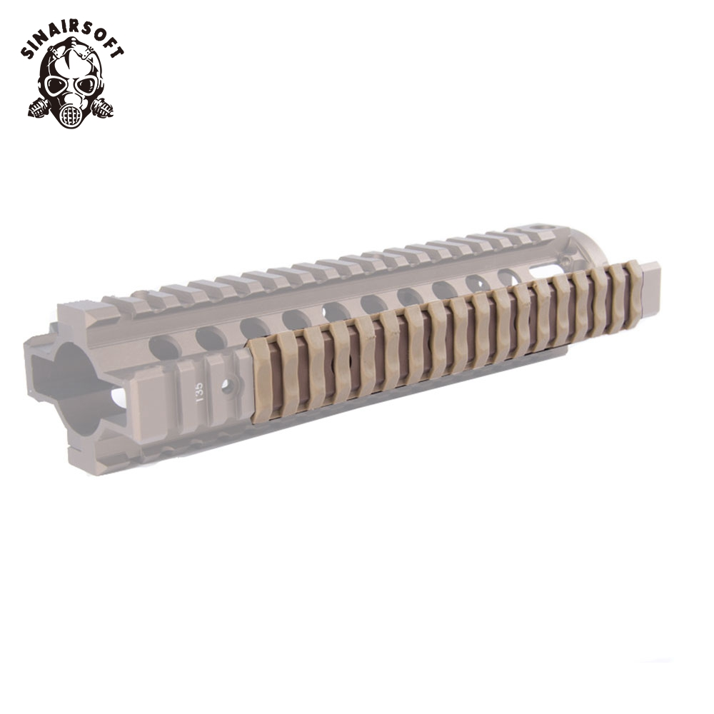 "/""Black/"" 18 Slots Each 4 Heat Resistant Soft Grip Picatinny Ladder Rail Cover"