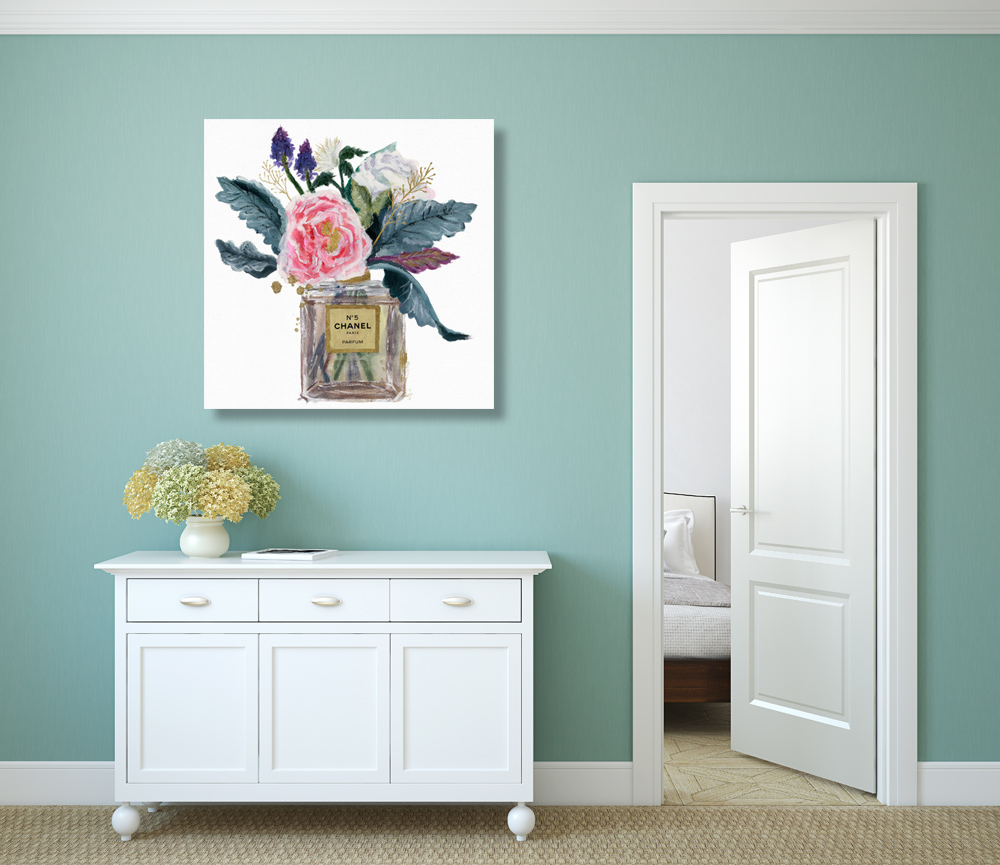 Vintage Flower Stretched Canvas Prints Framed Wall Art Home Office Decor Gift